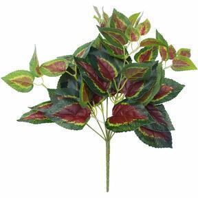 Basilico artificiale rosso 45 cm