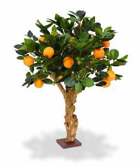 Bonsai artificiale Limone arancione 65 cm