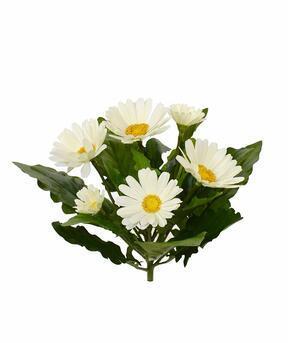 Crema di piante di Gerbera artificiale 30 cm