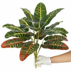 Croton artificiale screziato 50 cm