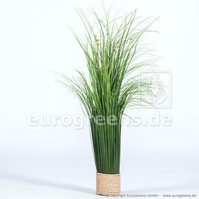 Fascio d'erba fiorito artificiale 55 cm