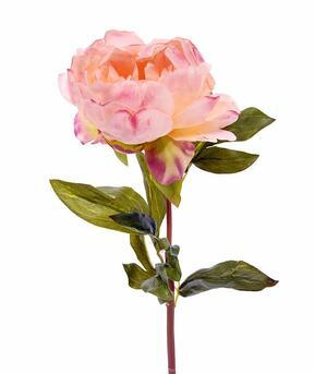 Fiore artificiale Peonia rosa 55 cm