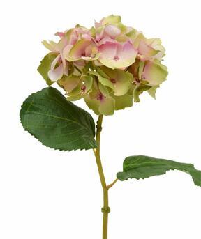 Fiore di ortensia artificiale rosa 45 cm