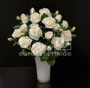 Mazzo artificiale Crema di rose 50 cm