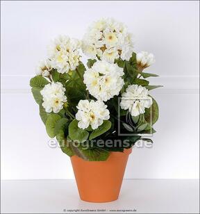 Mazzo artificiale Geranio bianco 40 cm