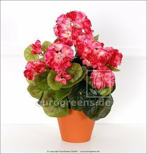 Mazzo artificiale Geranio rosa chiaro 40 cm