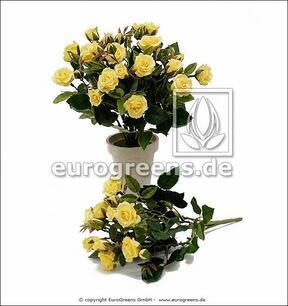 Mazzo artificiale Rosa gialla 25 cm