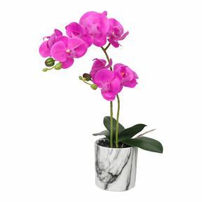 Orchidea artificiale ciclamino 49 cm