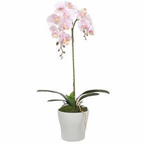 Orchidea artificiale rosa 53 cm
