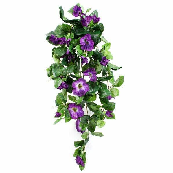 Petunia artificiale viticcio viola 80 cm