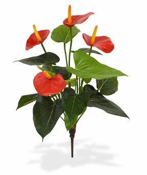 Pianta artificiale Anthurium rosso 40 cm