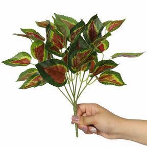 Pianta artificiale Basilico rosso 25 cm