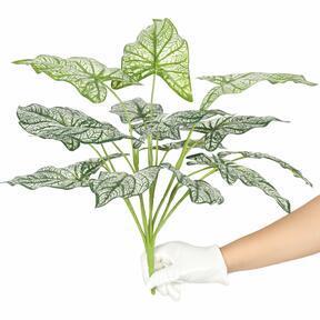 Pianta artificiale Calladium bicolore 50 cm
