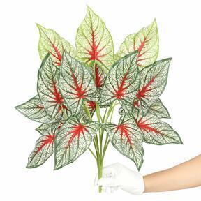 Pianta artificiale Calladium multicolore 50 cm