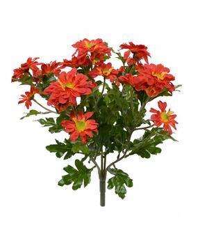 Pianta artificiale Crisantemo arancione 35 cm