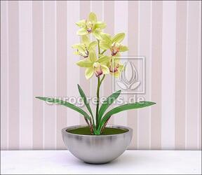 Pianta artificiale Orchidea Cymbidium verde chiaro 50 cm
