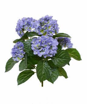 Pianta artificiale Ortensia blu 40 cm