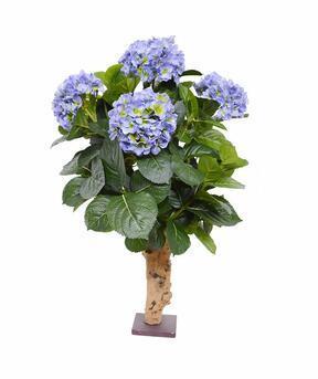 Pianta artificiale Ortensia blu 65 cm