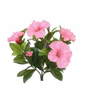 Pianta artificiale Petunia rosa 25 cm