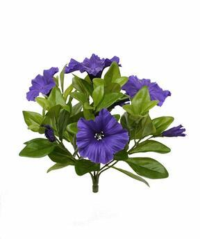 Pianta artificiale Petunia viola 25 cm