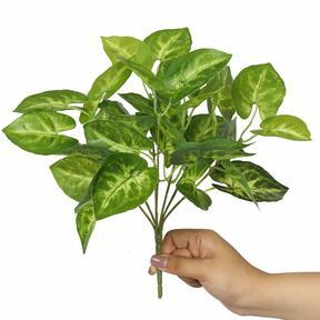 Pianta artificiale Taro Araceae 25 cm