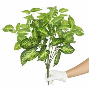 Pianta artificiale Taro Araceae 45 cm