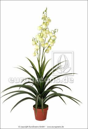 Pianta artificiale Yucca bella 125 cm