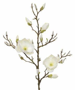Ramo artificiale Crema di magnolia 100 cm