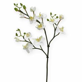 Ramo artificiale di Orchidea bianco 60 cm