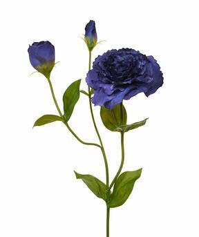 Ramo artificiale Eustoma blu 80 cm