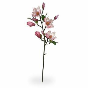 Ramo artificiale Magnolia rosa 80 cm