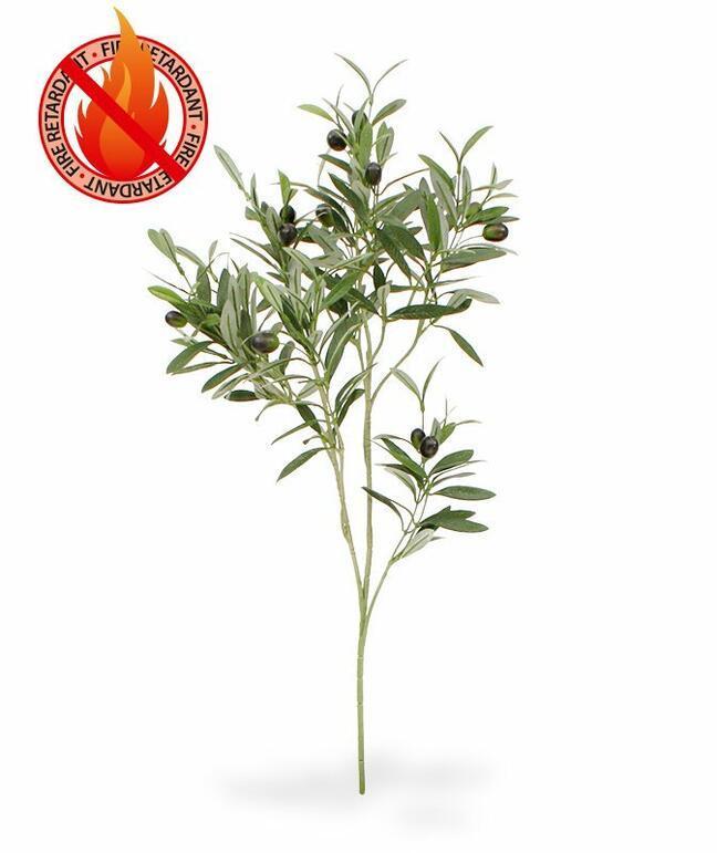Ramo artificiale Olivo con olive 90 cm