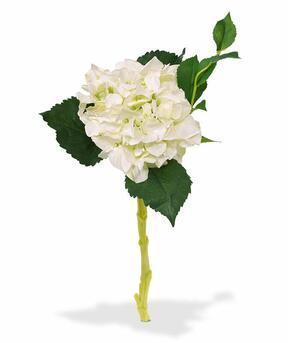 Ramo artificiale Ortensia bianca 38 cm
