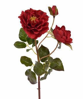 Ramo artificiale Rosa rossa 50 cm