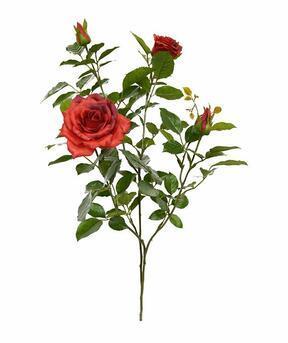Ramo artificiale Rosa rossa 70 cm