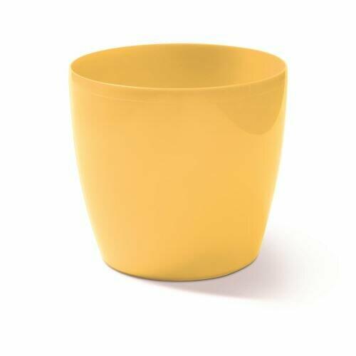 Vaso COUBI rotondo giallo chiaro 9cm